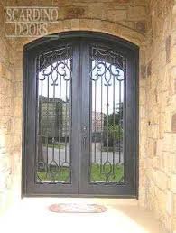 european collection french doors with segmented arch top