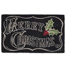 christmas door mats outdoor. Merry Christmas Chalkboard Doormat - Club Botanic Door Mats Outdoor D