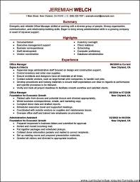 Resume Insurance Office Manager Free Samples Examples Format