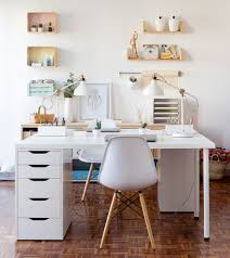 home office white desk. Valencia White Desk With Midcentury Modern Dining Side Chairs Home Office Contemporary And Table Lamps
