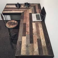 rustic office desks. Create This Rustic Office Workstation With The Pallets. Buying Expensive Furniture Could Be So Overwhelming For Your Pocket. Don\u0027t Worry At All, Desks