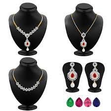 gold finish detachable necklace set pendant set by sukkhi necklace sets home18
