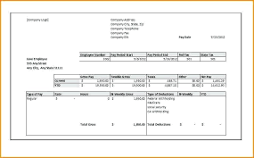 Pay Stub Template Check All Form Templates Printable Paycheck Free