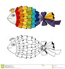 Rainbow Fish Coloring Stock Vector Illustration Of Colorful 35648906