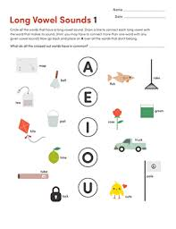 Printables for first grade english language arts. Long Vowel Sounds 1 Worksheet Education Com