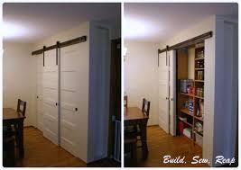 sliding closet barn doors. Beautiful Barn Triple Sliding Pantry Door Using Barn Hardware  Build Sew Reap To Sliding Closet Barn Doors E