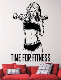 Gym Quotes Cool Time For Fitness Wall Decal Gym Quotes Vinyl Stickers Motivational