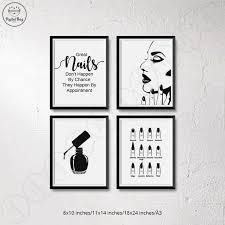 nail salon decor nail wall art digital