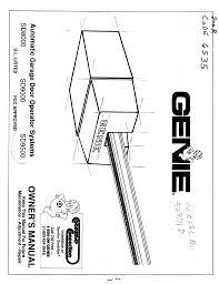 Garage Door genie garage door manual pictures : Download Genie Garage Door Opener SD8000 User's Manual for Free ...