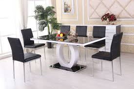 dining table black glass delectable decor inspiring giovani black for measurements 1500 x 1000