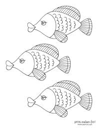 Color in this unusual guy and his undersea home. Top 100 Fish Coloring Pages Cute Free Printables Coloring Page Print Color Fun