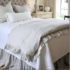 ruffle comforter queen french ruffled linen duvet cover king size flax linen bedding queen washed bed