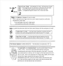 Line Notes Template Sample Musical Note Template 9 Free Documents In Pdf Word