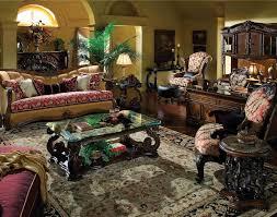 Michael Amini Living Room Set Aico Oppulente Wood Trim Upholstered Living Room Set By Michael