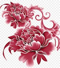 Paper Flower Business China Paper Flower Sticker Peony Vector Png Download 1500 1688