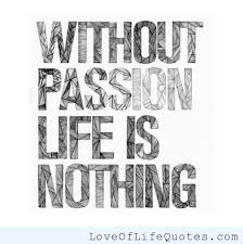 Image result for what is life  without passion