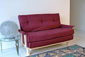 image of small outdoor loveseat red