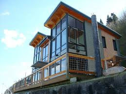 camano island fabcab is a timber frame prefab kit house in washington