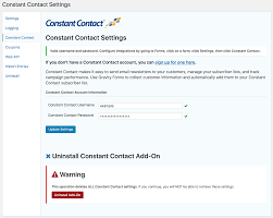 constant contact signup form gravity forms constant contact wordpress plugins
