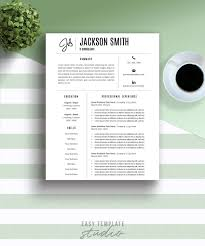Modern Resume Template It Resume Template Graphic Design Resume Professional Resume Two Page Resume