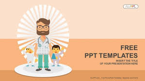 Children Ppt Templates Young Children Powerpoint Template Doctor And Patients Powerpoint