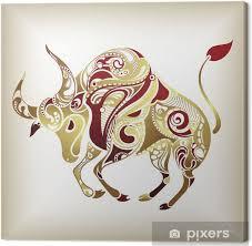 Obraz Znamení Býk Na Plátně