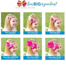 Bow Size Chart Hair Bow Length Chart Lajoshrich Com