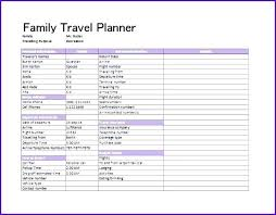 Free Travel Planner Trip Planner Excel Trip Itinerary Template Free Word Excel Documents