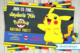 Pokemon Party Invitation Ideas Birthday Party Invitations Birthday