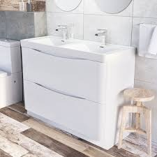 double sink vanity unit freestanding ideas