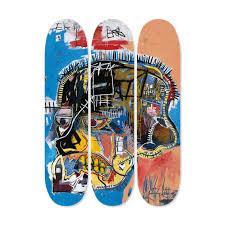 Artist Designed Skateboards Jean Michel Basquiat Skateboard Triptych Skull Jean