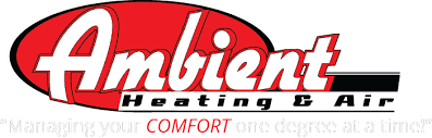 heating and air logo. ambient heating and air conditioning logo