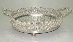 mirror vanity tray. (62033), crystal round vanity tray (62034) mirror vanity tray