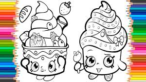 Coloring Page Coloring Pages Cupcake Queen Shopkins Book Videos