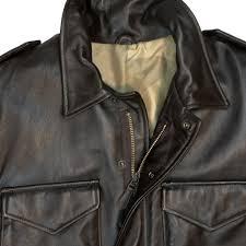 leather m 65 field jacket detail