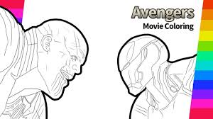 You can edit any of drawings via our online image editor before downloading. Thanos And Iron Man Drawing Avengers Infinity War Movie Coloring Page Youtube