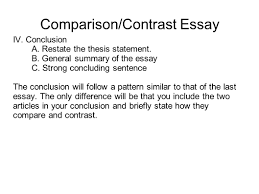 thesis example for compare and contrast essay writing for success