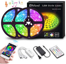 Led Strip Lights Elfeland 32 8ft 10m 300 Leds Ip65 Music Sync Color Changing Rope Lights Smd 5050 Rgb Light Strips With App Controller Tape Lights