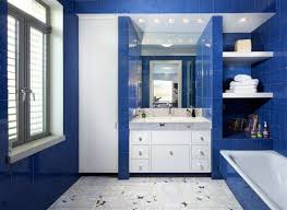 best decor with blue and white bathroom