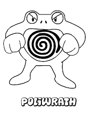 Small Picture Poliwrath Pokemon coloring page More Water Pokemon coloring