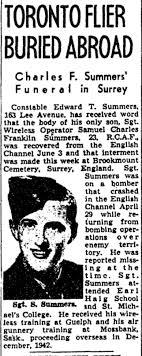 Samuel Charles Franklin Summers - The Canadian Virtual War Memorial -  Veterans Affairs Canada