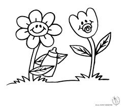 Disegno Di Fiori Animati Da Colorare Per Bambini Con Vaso Di Fiori