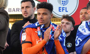 James justin (luton town) right footed shot from outside the box is just a bit too high. James Justin Leaves To Join Leicester City News Luton Town
