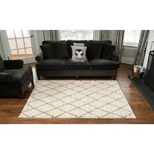 Modern Area Rugs For Living Room Living Room Runner Grey 5x8 Modern Polypropylene Trellis Area