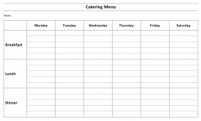 Free Catering Menu Template Catering Spreadsheet Template