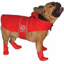 Waterproof Dog Pvc Hooded Raincoat Rain Coat Pet Jacket