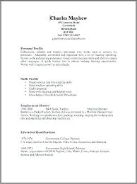 Resume Outline Free Basic Resume Outline Format Template For Free