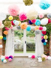 Tissue Balls Party Decorations Top Tips Hanging Decorations Martha stewart crafts Martha 45