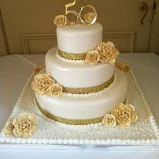 50th Wedding Anniversary Cake Ideas Unfor Table Cake Decorating