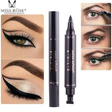 miss rose makeup liquid eyeliner pencil quick dry waterproof eye liner black color with st beauty eye pencil 1229003 eyeliner tips eyeshadow tutorial